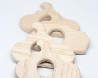 Wooden baby teething submarine / Baby teething toy