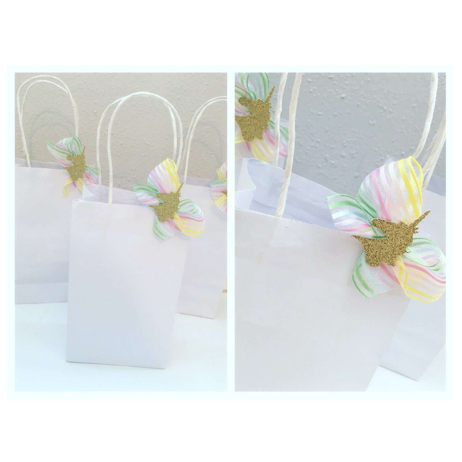 Unicorn Favor Bags. Unicorn Party. Unicorn & Rainbows. Favor