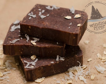 Coconut Vanilla All Natural Soap with Oatmeal and Honey