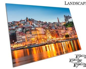 city of Porto on the Douro River in Portugal Cityscape Poster Print X1626