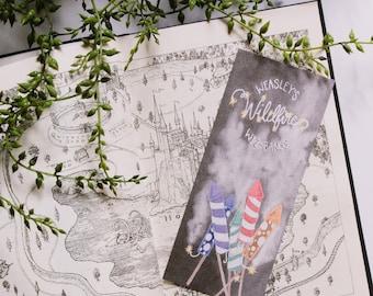 Weasley Wildfire Wiz-Bangs bookmark - Harry Potter, Fred and George, Ron Weasley, Hogwarts