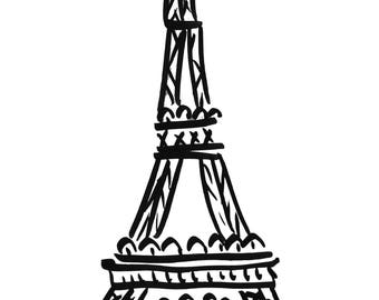Eiffel tower art print, Paris art, Paris art print, Eiffel tower art, Francophile, gift for her, French home decor, French gallery wall