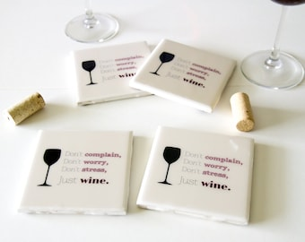 Wine coasters, gifts for wine lovers, gifts for wine drinkers, wine gifts, Mothers day gift for mom, birthday gifts for friends Gift for her
