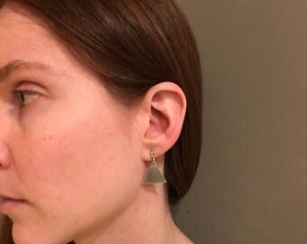 Triangle Silver Earrings, Elegant Earrings, Handmade Jewelry, Gift for her
