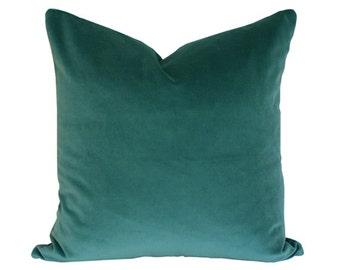 Teal Velvet Designer Pillow Cover - Custom Made-to-Order
