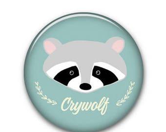 "Raccoon CW 1.25"" Button"