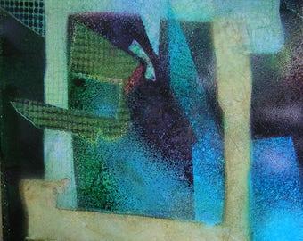 Original Mixed Media Abstract Art - Myriad of Colors, 25x21