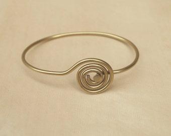 Gold Spiral Bicycle Spoke Bracelet