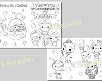 octonauts party thank you coloring pages activity book pdf file - Octonauts Coloring Pages