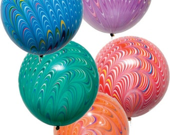 "CLEARANCE Swirl Balloons 18"" Biodegradable-per balloon"