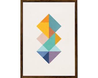 Squares 2. Scandinavian print Geometric art print Mid century geometric art nordic print geometric print mid century geometric poster