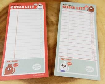 Shopping List Pads, School Supplies, Paper Pad, Checklist Notepad, Lists Pad, Household List Memo Pad