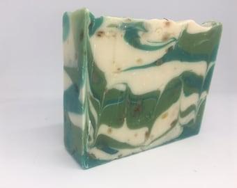 Clover and Aloe Swirl Cold Process Soap