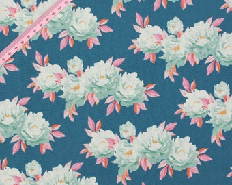 Tilda Minerva Blue Fabric / Cottage Collection - Half Metre/0.54yard