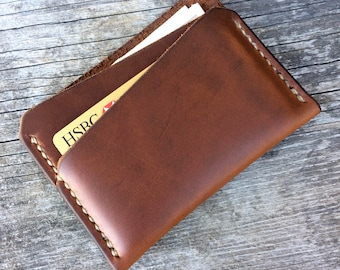 Brown leather wallet, Small wallet, Front pocket wallet, Thin leather wallet, Slim mens wallet, Thin card wallet, Thin wallet, Custom wallet