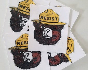 "Resist - ""Smokey the Bear"" Vinyl Sticker"