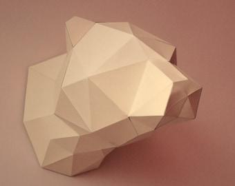Bear 3D Papercraft Model - Download PDF Template - DIY Decoration