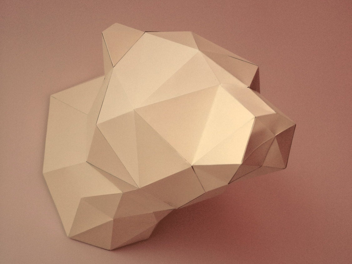 Imprimir modelo de papel de un oso plantilla DIY PDF