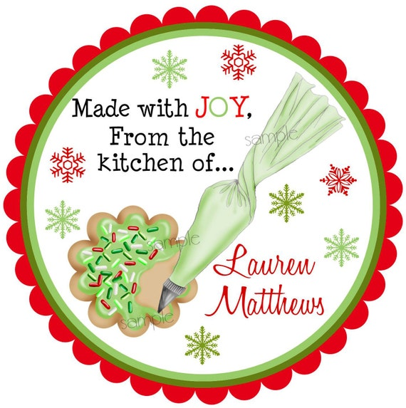 christmas cookie stickers cookie decorating labels kitchen rh etsystudio com from the kitchen of christmas labels from the kitchen of christmas labels