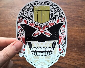 Day of the Dredd - Día de Muertos, Judge Dredd / Day of the Dead - Vinyl Sticker