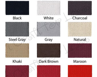 """Cotton Webbing - 10 Yards - 1.25"""" Medium Heavy Weight for Key Fobs, Purse Straps, Belting - SEE COUPON"""