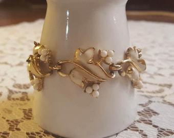 Vintage Leaves and Berries Bracelet