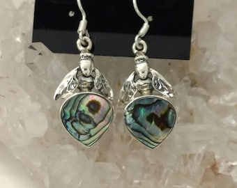 Abalone Bee Earrings