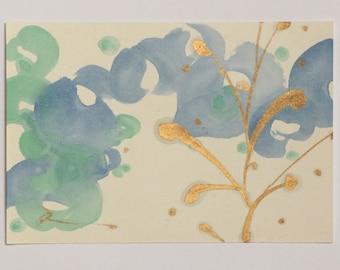 Painting of water, Japanese color art, music painting, Summer art painting, Japanese color art Reina Kobayashi art work'Piccolo valzer 2014'