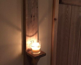 Wall Sconces made from reclaimed timber.