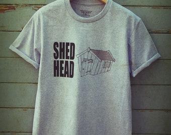 Funny tshirt- shed head t shirt, funny t-shirt, gardening gift, gifts for gardeners, gardening t shirt, mens tee shirts, dad birthday, uk