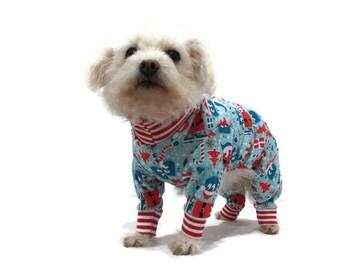 Christmas Dog Pajamas - Dog Clothes - Dog Clothing - Dog onesie - Dog Apparel -Pet Clothes