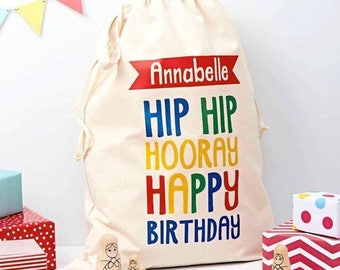 Happy birthday gift bags canvas gift sacks personalized personalized baby gift child canvas bag birthday bag embroidered toy bag birthday party bag negle Image collections
