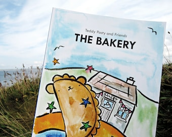 Illustrated children's story book 'The Bakery' from the Teddy Pasty and Friends series