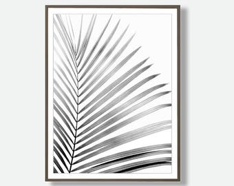 Palm Leaf Wall Art, Printable Download, Tropical Leaf Print, Printable Poster, Leaf Digital Download, Printable Palm Leaf, Feliss-Art