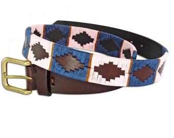 Polo Belt Rose Brown - Argentina Belt - traditional leather belt