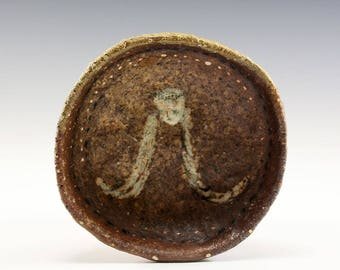 Hand Pinched Wood Fired Bowl by Jenny Mendes - Angel