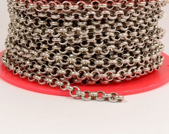 3ft 5.7mm Rolo Chain - Antique Silver - 5.7mm Links - CH81