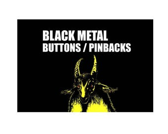 20 x Black Metal band buttons (badges, pins, heavy metal, thrash metal, death metal, botones, boutons tees, patch)