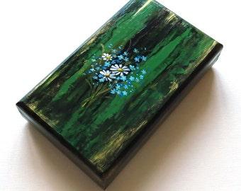 Blue jewelry box Poppy gifts Jewelry storage box Gift for