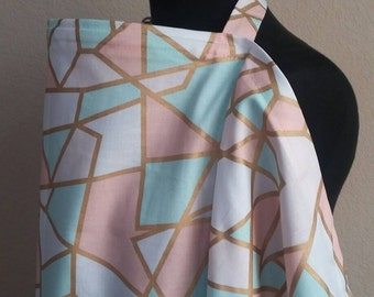 Breastfeeding  Cover, Nursing Cover, Pastel Gold Nursing Cover Up