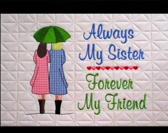 In Hoop Sister Friend Pillow Pal