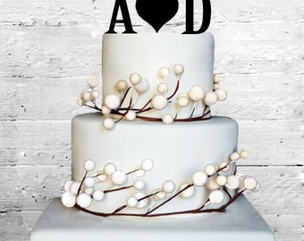 "6"" Personalized Custom Wedding Initials Cake Topper Monogram cake topper Personalized Cake topper Acrylic Cake Topper"
