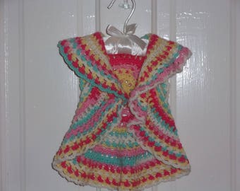 Baby Girl's Circle Vest ~ Tutti Fruiti ~ Fits 9 - 12 mos.