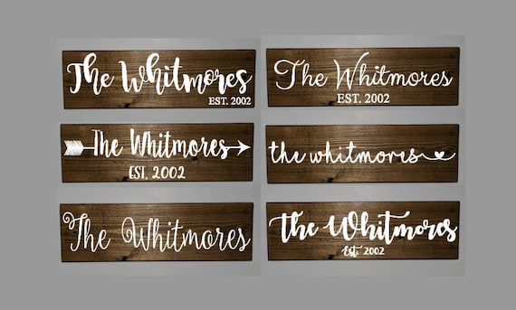 Famous Family name sign family wooden sign established sign last IG61
