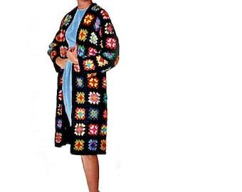 Granny Squares Crochet Coat Pattern