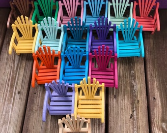 Adirondack chair, Spring decoration, porch decoration, beach chair, coastal chair, seaside mini fairy garden chair, mini Adirondack chair