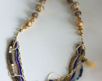 "32"" Boho multi strand necklace"