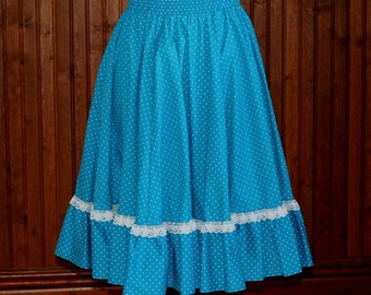Vintage Malco Made Circle Skirt _ Square Dance Skirt