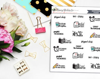 Irresponsible Student College/School Planner Stickers | for use with Erin Condren Lifeplanner™, Filofax, Personal, A5, Happy Planner