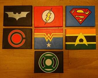 Justice League Mini Canvasses